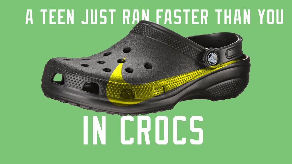 777d1755a47df A teen just ran faster than you while wearing Crocs - Citius Mag