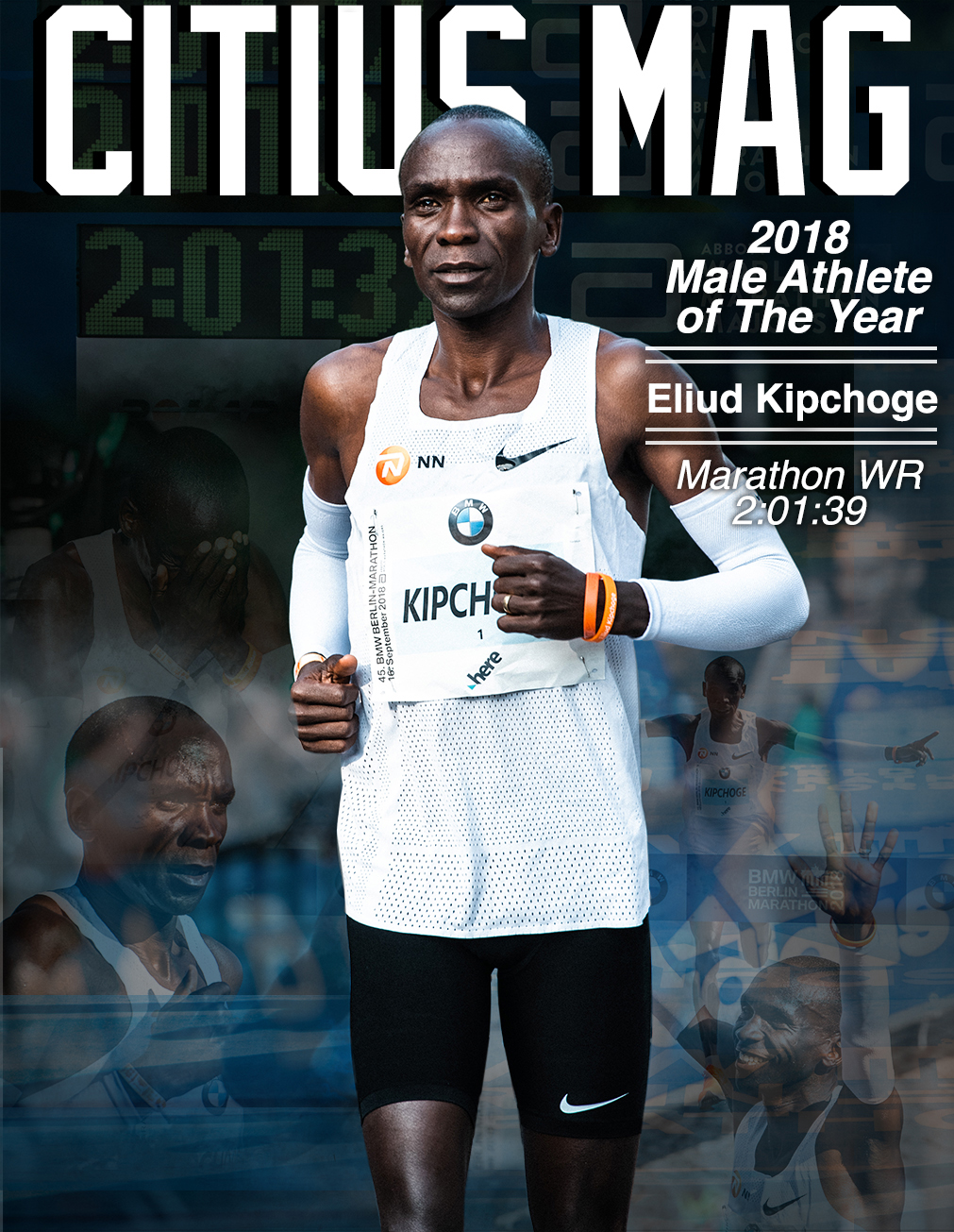 eliud kipchoge citius mag male athlete of the year 2018